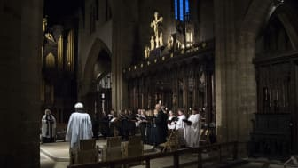 The Northumbria University Choir, pictured performing at Newcastle Cathedral during the University's 25th anniversary service earlier this year