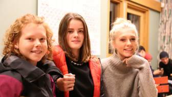 Från vänster: Tove Dandenell, Agnes Abrahamsson och Alma Johansson från Göteborg