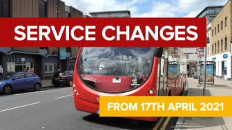 Service changes from 17th April