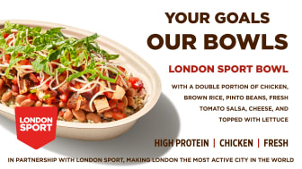 The London Sport Bowl launched onto Chipotle menus in London this month