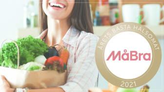 MåBra, Sveriges största hälsotidning, har utsett årets bästa hälsomat