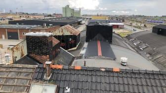 Kryddfabriken Malmö takåsar.JPG