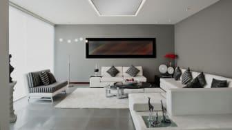 Infrarot-Heizungen werden immer beliebter. In Kombination mit einem LED-Lichtrahmen indirekt sorgen sie nicht nur für sehr angenehme Wärme, sondern bieten auch eine individuell steuerbare Beleuchtung.   Foto: Haller Infrarot