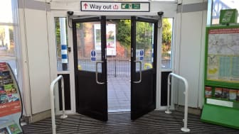 Open sesame:  GTR has installed automatic doors at Hertford North station as part of a programme of improvements it is funding to improve access across the network