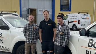 Bohus plåtslageri blev det hundrade företaget som blev auktoriserade enligt Trygg plåt. De tre delägarna i bolaget är Richard Sörensson, Andreas Martinsson och Åke Åkerblom.