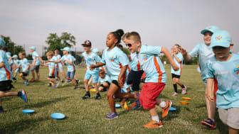Children take part in All Stars Cricket at Hardwicke Cricket Club (Photo by Tom Shaw/ECB)