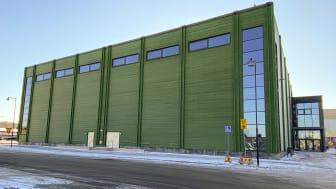 Nybyggda Kungsbacka sporthall. Foto: Kungsbacka kommun