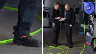 Se hvor du går! Vi introducerer nu vores slangeruller med fluorescerende (Hi-Vis) slanger