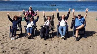 Stranden på Styrsö gav styrka och inspiration till SamCerts medarbetare