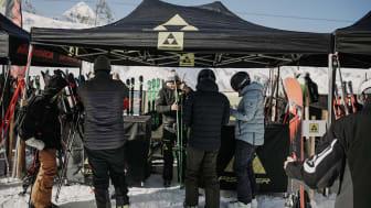Viele der Top-Wintersport-Marken sind vor Ort.