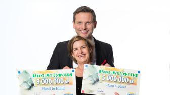 Hand in Hand får rekordutdelning från PostkodLotteriet – 14 miljoner kronor!
