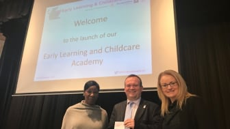 L-R: Dr Stella Louis (Early Years Consultant, keynote speaker), Laurence Findlay (Regional Improvement Lead, Northern Alliance), Sacha Will (Acting Early Years Service Manager, Aberdeen City Council).