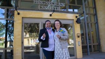 Hana Hinkle och Catharina Gillsjö ser båda fram emot det kommande samarbetet.