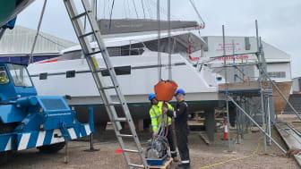 Video - Fischer Panda UK generator installed on Natasha Lambert's catamaran 'Blown Away' - Timelapse