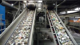 Sortierung von Verpackungsabfällen in Hamburg