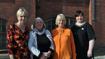 L-R: Dr Juliana Thompson, Sue Tiplady, Professor Glenda Cook and Jemma James