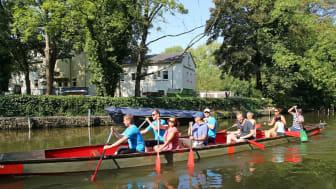 Stadthafen Leipzig - Fahrt mit dem Drachenboot