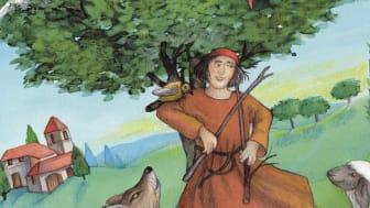 Den helige Franciskus av Assisi omgiven av djur och natur. Foto: Katolska Pedagogiska Nämnden (KPN)