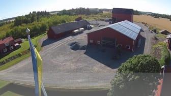 Solceller på Sunnanå Säteri utanför Uppsala