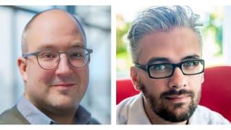Mattias Jönsson (t.v.) och Rasmus Thornberg (t.h.) är Sigma IT Consultings senaste topprekryteringarna inom AI och Data Science.
