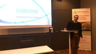 Paul Wooldridge, Alfred Nobel Science Park at SUMM Systems seminar in Gothenburg.