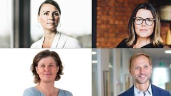 Julia Strandberg, Inkluderingsbyrån, Anna Rosengren, ALMI, Kerstin Granath, Areal och Björn Rinstad, Leksands Sparbank deltar i spännande paneldiskussion