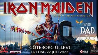 IRON MAIDEN EUROPEAN LEGACY OF THE BEAST SUMMER 2021 TOUR – FLYTTAS FRAM TILL 2022