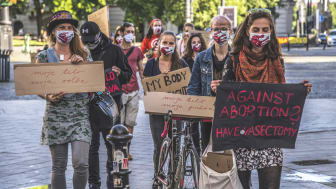Demonstration i Bratislava, våren 2020, © Amnesty International, Slovakien