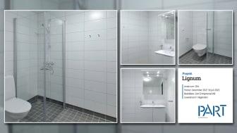 Part levererar 204 badrum till projektet Lignum