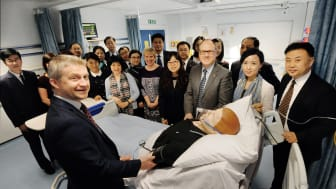 Delegation of medical practitioners to Northumbria University, Newcastle