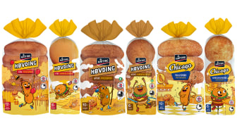 Pølse- og hamburgerbrødene i Høvding-serien fra Hatting får nå et mer lekent design som fanger typiske brukssituasjoner der produktene selv spiller hovedrollene.