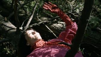 Pysäytyskuva videoteoksesta Hemera - Awakening of Spring. Kuvassa Laura - The Light of All.