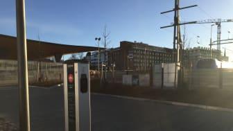 CLEVER laddstation vid Knutpunkten i Helsingborg