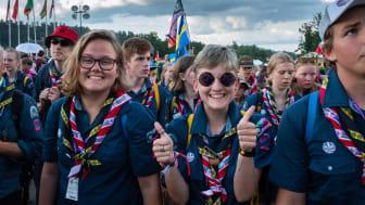 Svenska scouter på World Scout Jamboree i USA 2019. Foto: Patrik Hedljung