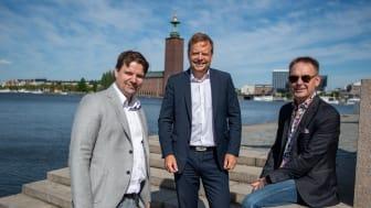 Från vänster, Anders Asplund, Peter Gustafsson och Klas Palmér.