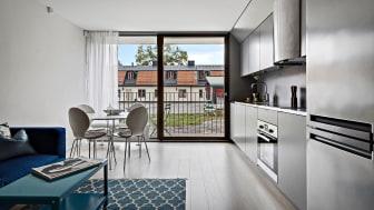 Svenska Bostäders Snabba Hus i Råcksta. Foto: Junior Living