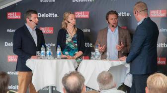 I panelen deltog Johan Torgeby, vd SEB, Cecilia Skingsley, vice riksbankschef och Adam Kostyál, ansvarig Nasdaqs europeiska noteringsverksamhet. Moderator var Erik Wahlin, chefredaktör Affärsvärlden.