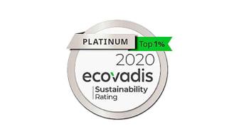 Lyreco modtager Ecovadis' prestigefyldte platinmedalje