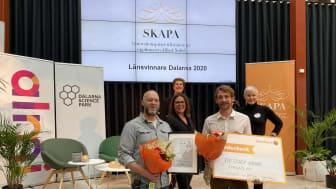 Fredrik Bokvist och Lars Thelin, Vivolab AB från Falun, får SKAPA-priset för sin högkvalitativa medicintekniska produkt Breease.