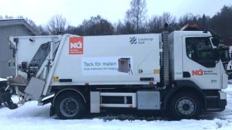 Nya vita sopbilar, en del med två fack, ska hämta hushållsavfallet i Angered, Östra Göteborg och Örgryte-Härlanda.