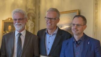 Några som uppmärksammades var Lars Kristén, Urban Johnson och Krister Hertting från Högskolan i Halmstad. Foto: Destination Halmstad