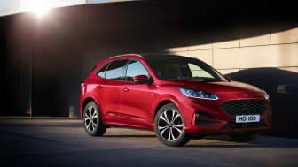 Nya Ford Kuga har fått det högsta säkerhetsbetyget av Euro NCAP.