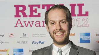 Vinnare Årets butikssäljare, Retail Awards 2012, Dennis Ländin, Blomsterlandet Norrtälje
