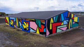 Sobekcis maalasi kokonaisen ladon kattavan muraalin Saloon. Kuvat Murat Mutlu