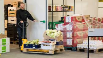 I januar 2018 udleverede FødevareBanken i Aarhus 52 tons mad til socialt udsatte i det Nord- og Midtjyske område svarende til 130.000 måltider. Det er ny rekord. Foto: FødevareBanken