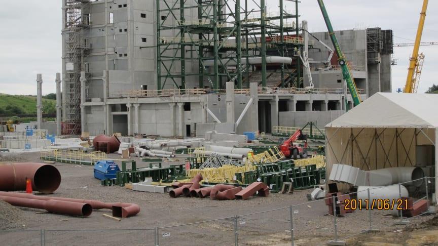 Helsingborgs nya kraftvärmeverk på spåret