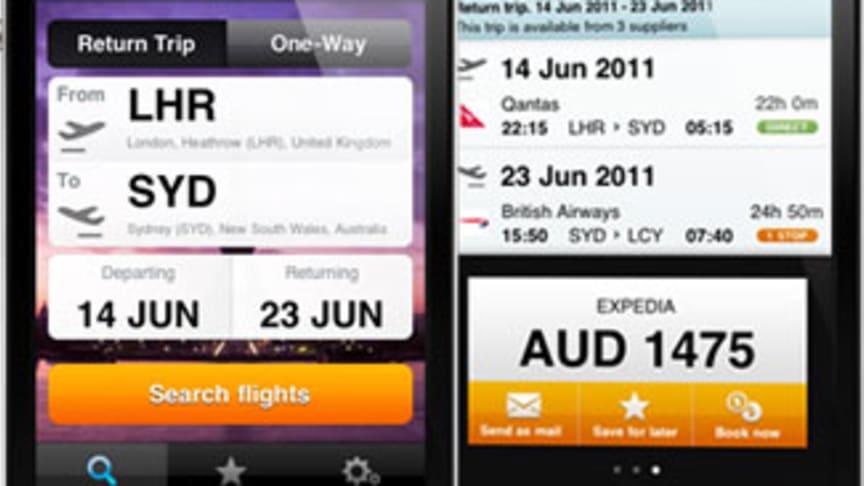Momondos Flygjämförelseapp för iPhone
