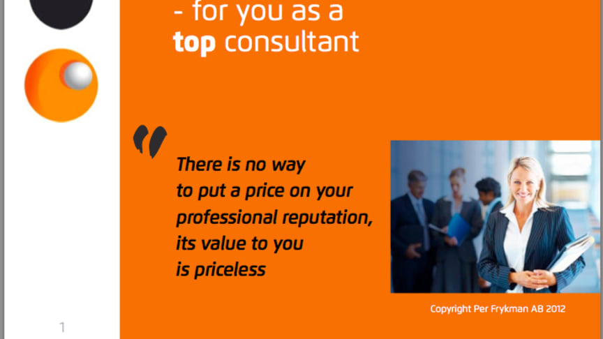 Our New Ebook Your Professional Reputation For Top Consultants Your Professional Reputation