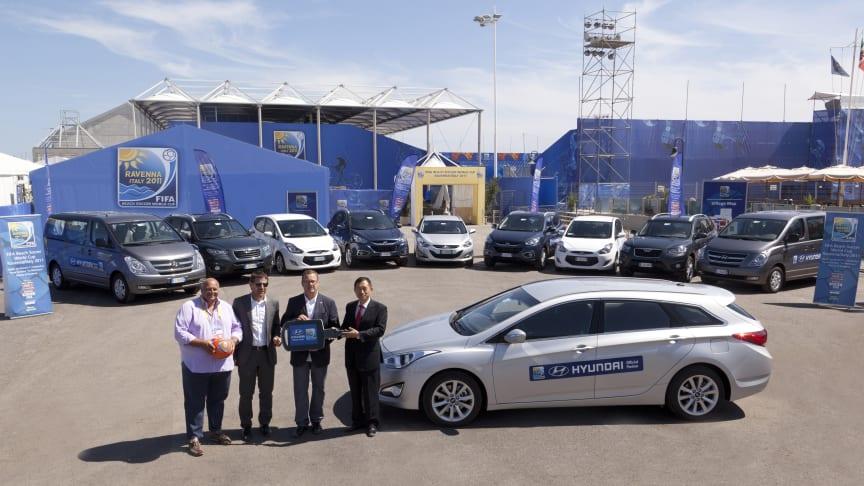 Hyundai offisiell bil for VM i beachfotball