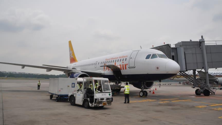 Changi Airport welcomes Drukair of Bhutan